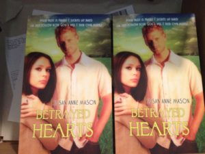 book delivery, copies of Betrayed Hearts